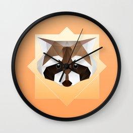 Raccoon Geometric Wall Clock