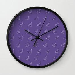 Baesic Llama Pattern (Ultra Violet) Wall Clock