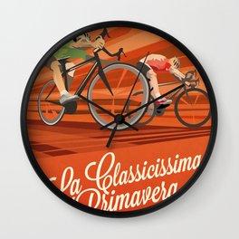 Milan San Remo cycling classic Wall Clock