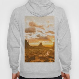 Southwest Wanderlust - Monument Valley Sunrise Nature Photography Hoody