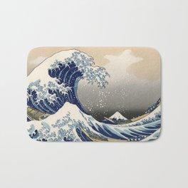Kanagawa Wave Bath Mat
