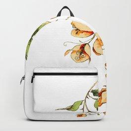 Orange Bougainvillea Illustration Backpack