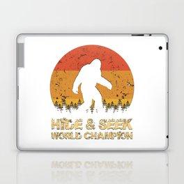 Vintage Hide And Seek World Champion Bigfoot Sasquatch Laptop & iPad Skin