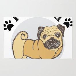 Pug Dad Funny Love Dog Pet Gift Rug