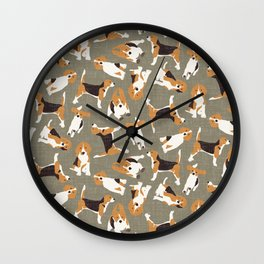 beagle scatter stone Wall Clock