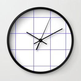 Blue Lines White Polygons Wall Clock
