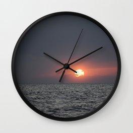 Sunset open sea Wall Clock