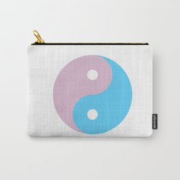 Transgender Yin Yang Symbol Carry-All Pouch