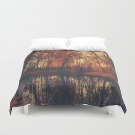 Where are you? Autumn Fall - Autumnal forest Duvet Cover
