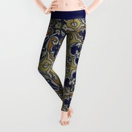 Spain 46 - Woman in Madrid with mosaic on the wall Leggings