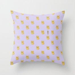 Hachikō, the legendary dog pattern Throw Pillow