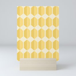 Zola Hexagon Pattern - Golden Spell Mini Art Print