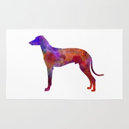 Hungarian Greyhound in watercolor Rug