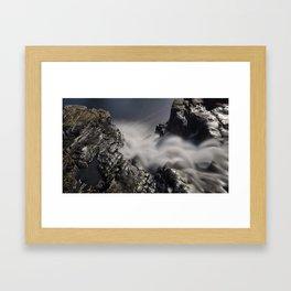 Waterfall Looking Down Framed Art Print