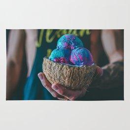 Vegan Unicorn Ice Cream Bowl Rug