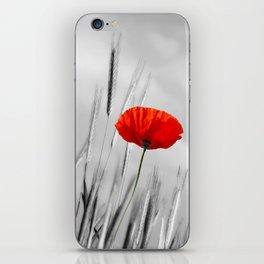 Poppy Red 070 iPhone Skin