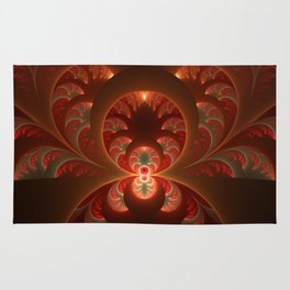 Fractal Mysterious, Warm Colors Are Shining Rug