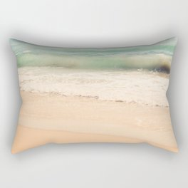 beach. Sea Glass ocean wave photograph. Rectangular Pillow