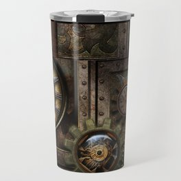 Steampunk, wonderful clockwork with gears Travel Mug