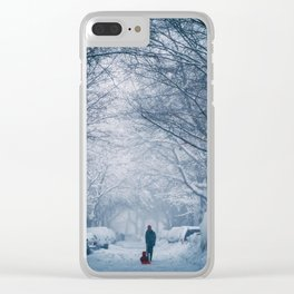 Blizzard in the City Clear iPhone Case