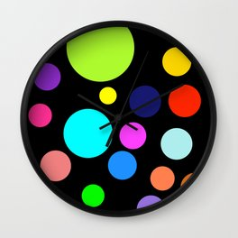 Circles on Black Wall Clock