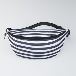 Navy Blue and White Horizontal Stripes Fanny Pack