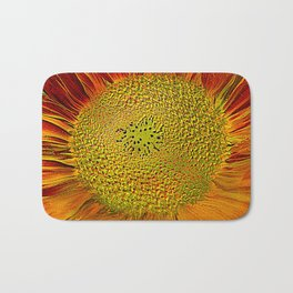 The flower of sun   (This Artwork is a collaboration with the talented artist Agostino Lo coco) Bath Mat