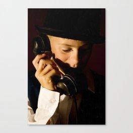 Boy On Phone Canvas Print