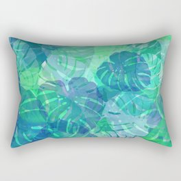 monstera leaves tropical 2 Rectangular Pillow