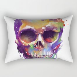 colorful skull Rectangular Pillow