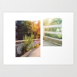 Princeton D&R Canal Art Print