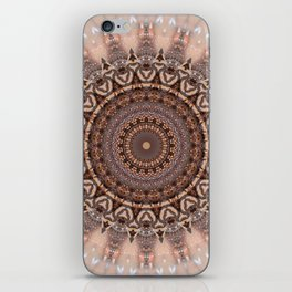 Mandala romantic pink iPhone Skin