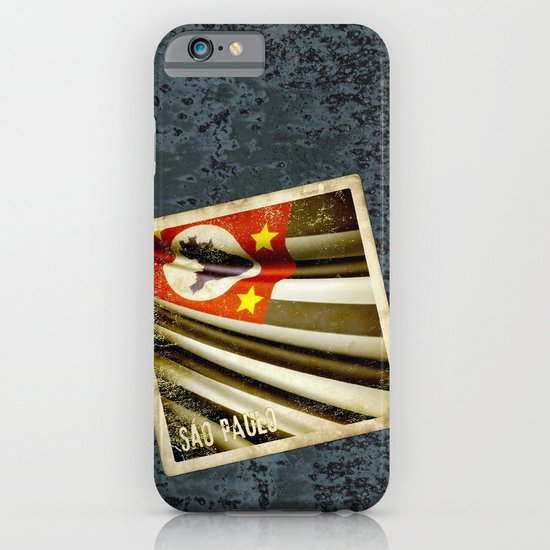 Sticker of Brazil (San Paulo) flag iPhone & iPod Case