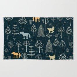 Magic Storybook Northwest Forest Pattern Rug