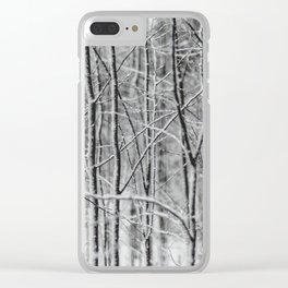 Winter gris Clear iPhone Case