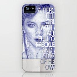 Fierce little girl iPhone Case