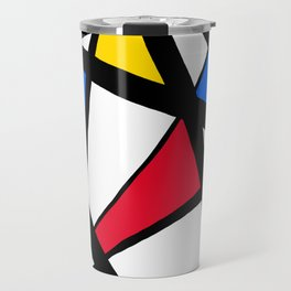 Red, Yellow, Blue Primary Abstract Travel Mug