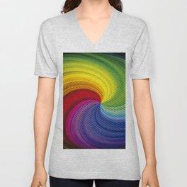 Twister rainbow Unisex V-Neck