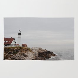 Maine lighthouse Rug