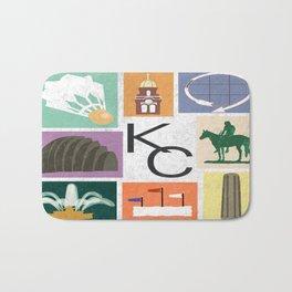 Kansas City Landmark Print Bath Mat