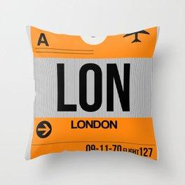LON London Luggage Tag 1 Throw Pillow