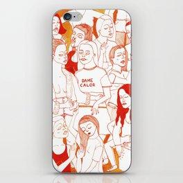 Dame Calor iPhone Skin