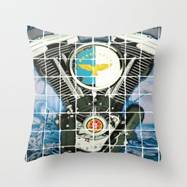 Traditional Portuguese Tile Biker Style Throw Pillow