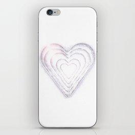 White Snow Heart On A White Background #decor #society6 #buyart iPhone Skin