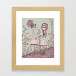 Cupcake Garden Framed Art Print