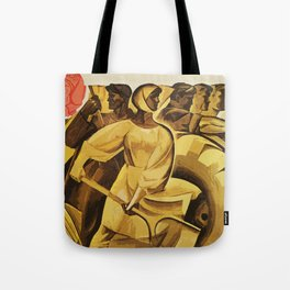 bread for us cccp sssr soviet union political propaganda revolution poster  Tote Bag