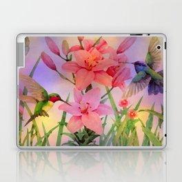 Painterly Hummingbirds And Flowers Laptop & iPad Skin