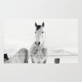 Winter Horse Landscape Rug