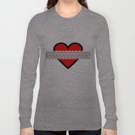 HEART AND PEARLS! Long Sleeve T-shirt