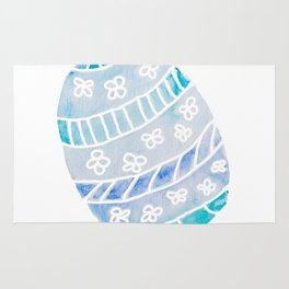 Easter Egg in Blue and Teal Rug